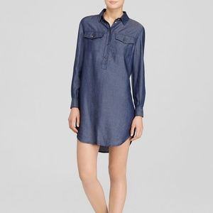 JBrand Brea Blue Chambray Tunic Shirtdress